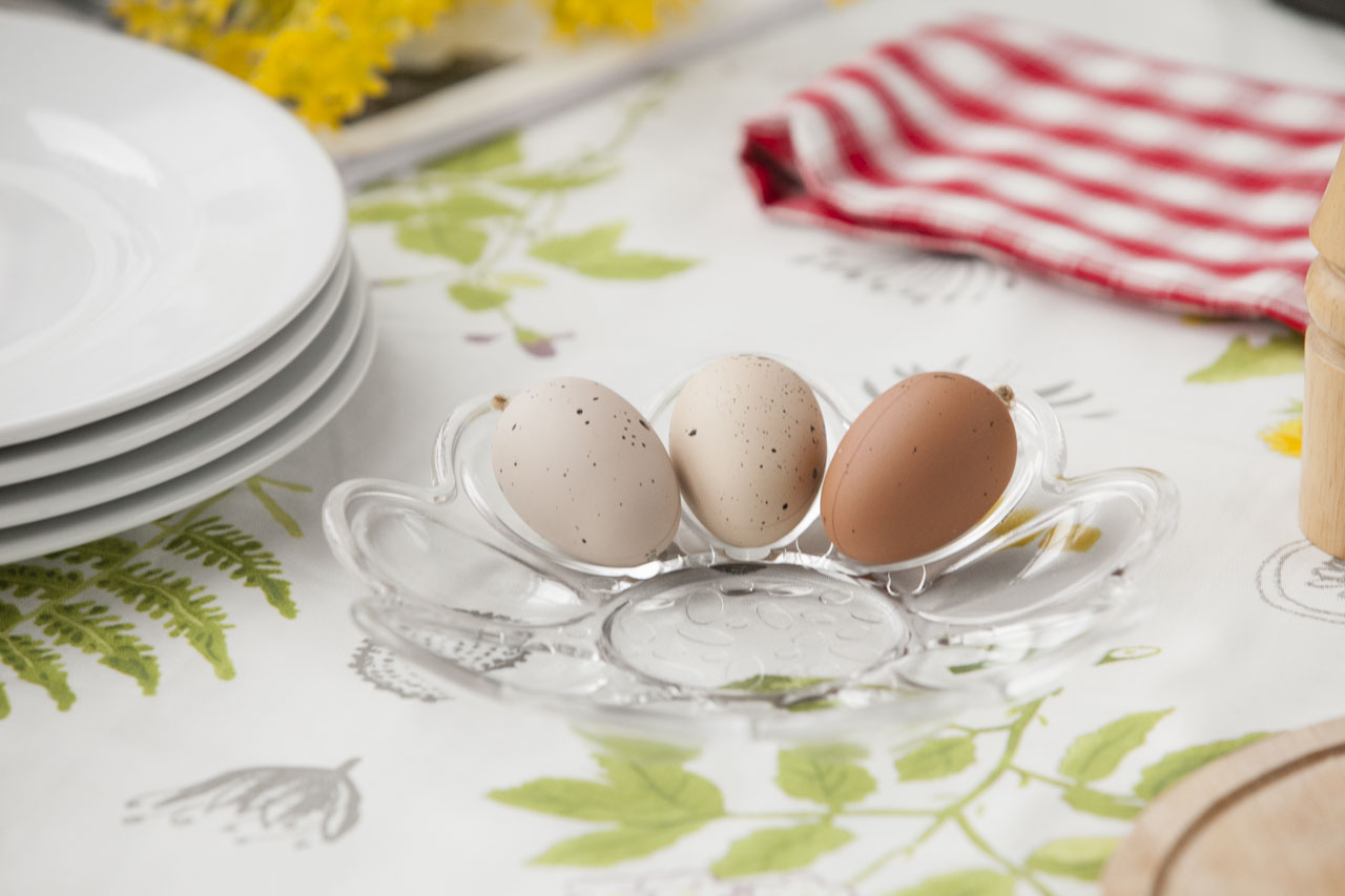 Talerz na jajka szklany 21,5 cm