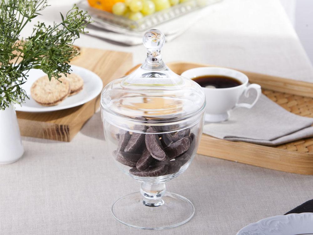 Bomboniera / pojemnik szklany na cukierki 26 cm
