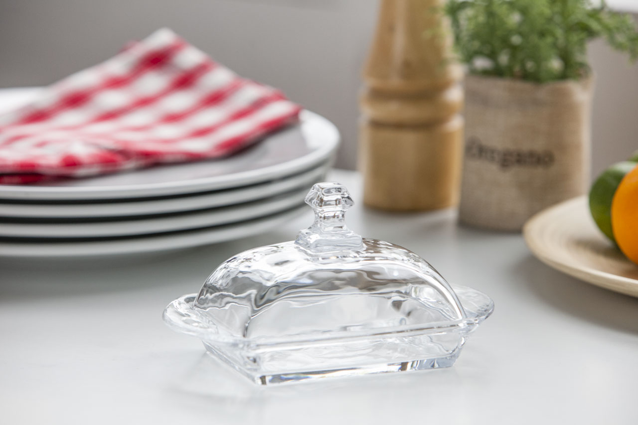 Maselnica szklana z pokrywą Altom Design 17 cm