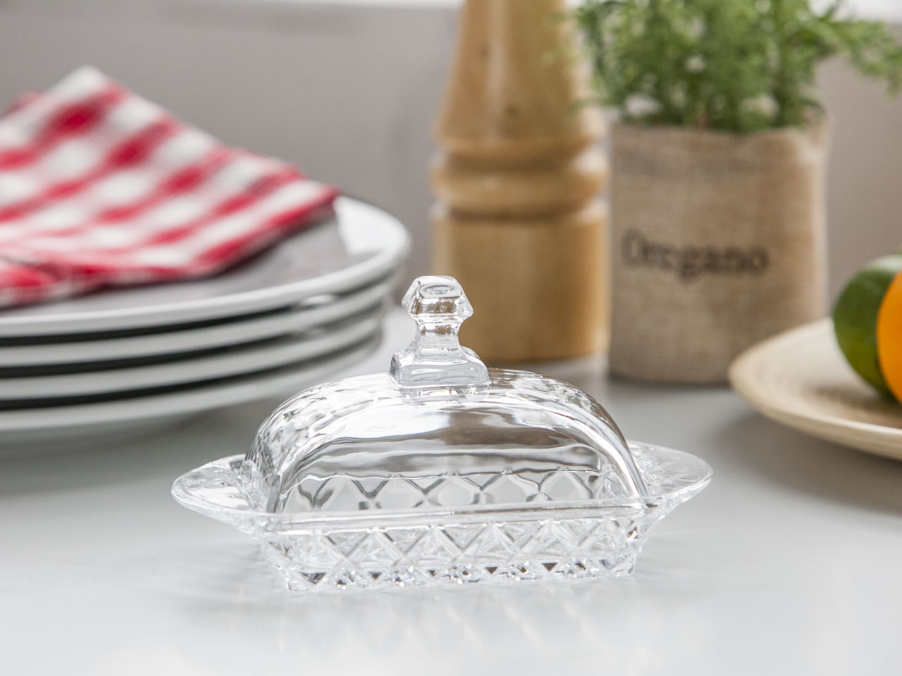 Maselnica szklana z pokrywą Altom Design Karo