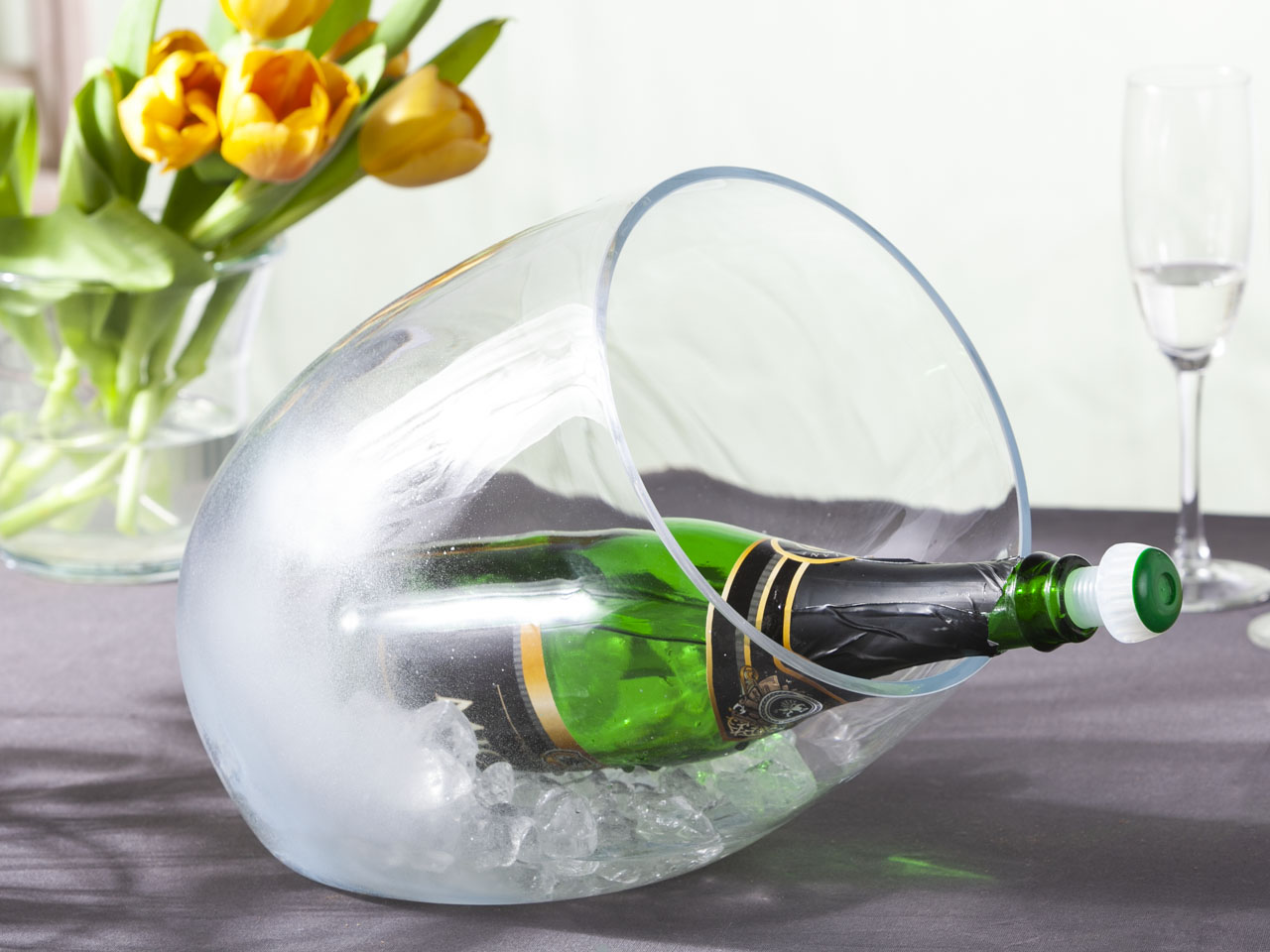 Pojemnik szklany na lód / alkohol / Pojemnik do schładzania Edwanex