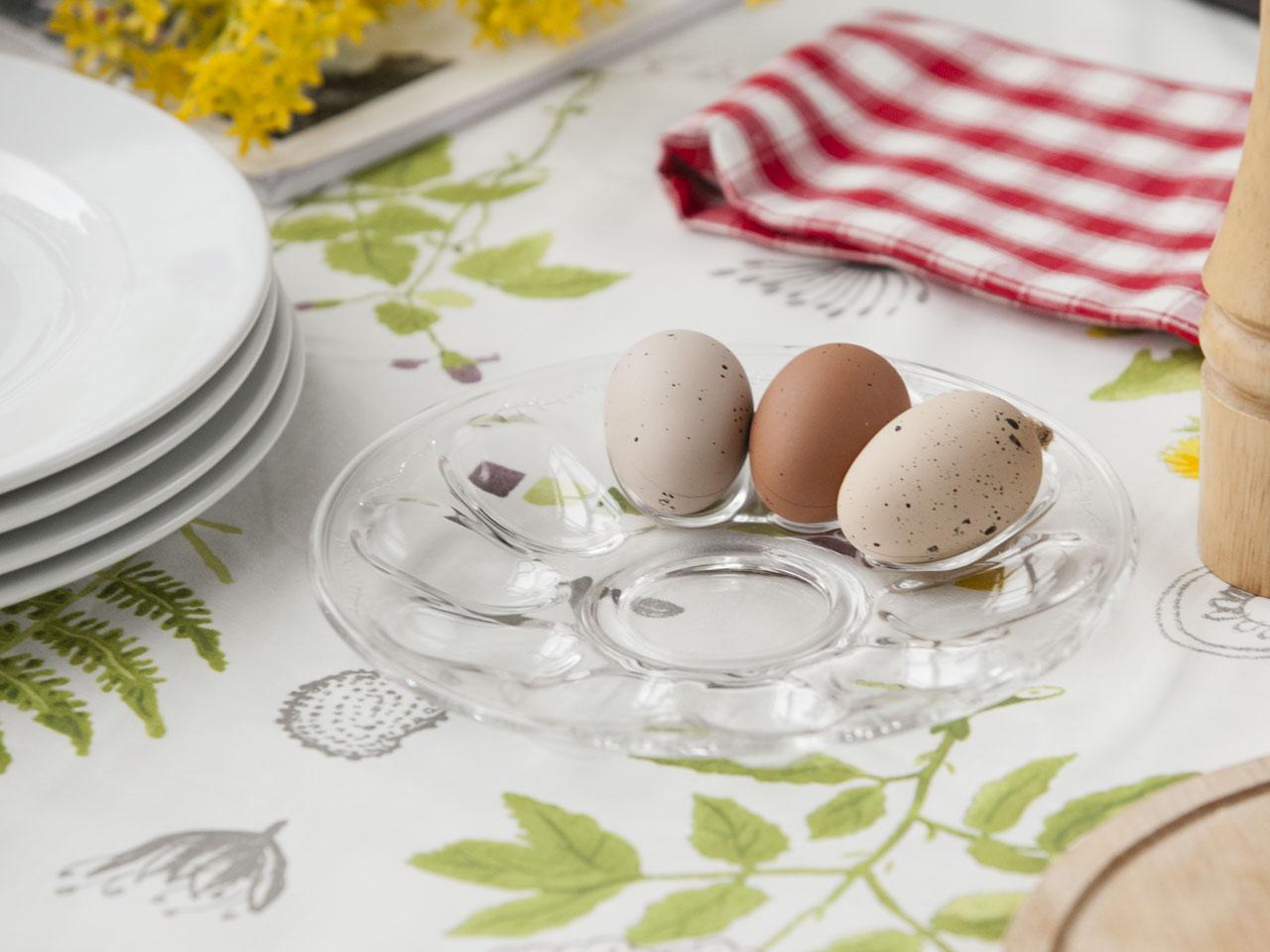 Talerz na jajka szklany 22 cm