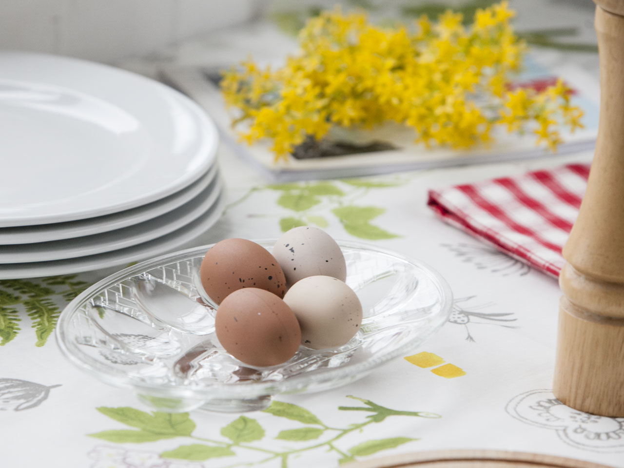 Talerz na jajka szklany 26x19 cm