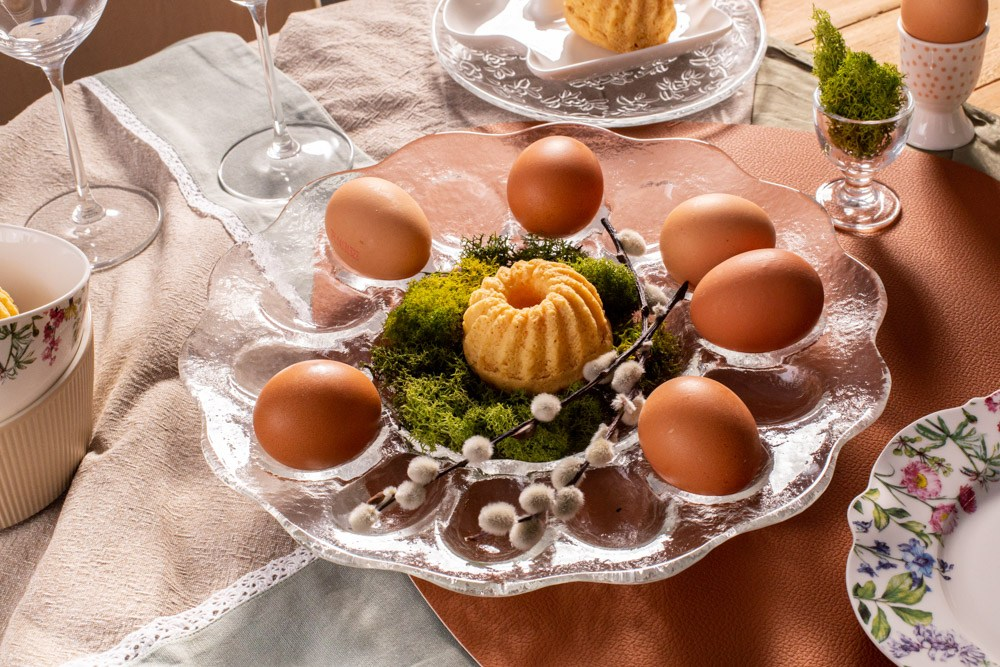 Talerz na jajka szklany Edwanex