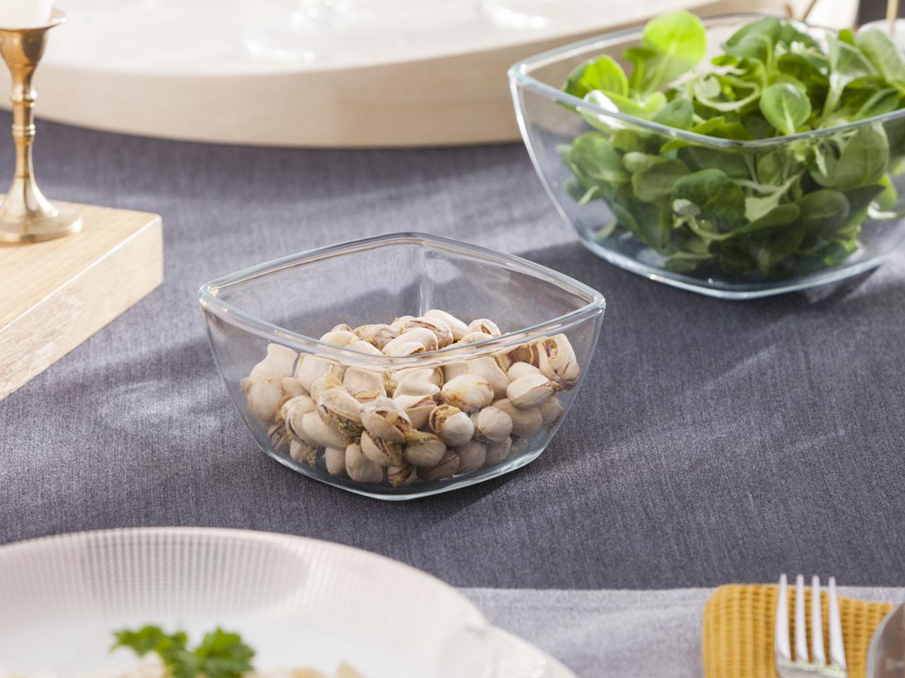 Miska / salaterka szklana kwadratowa Altom Design 0,5 l 6x12 cm