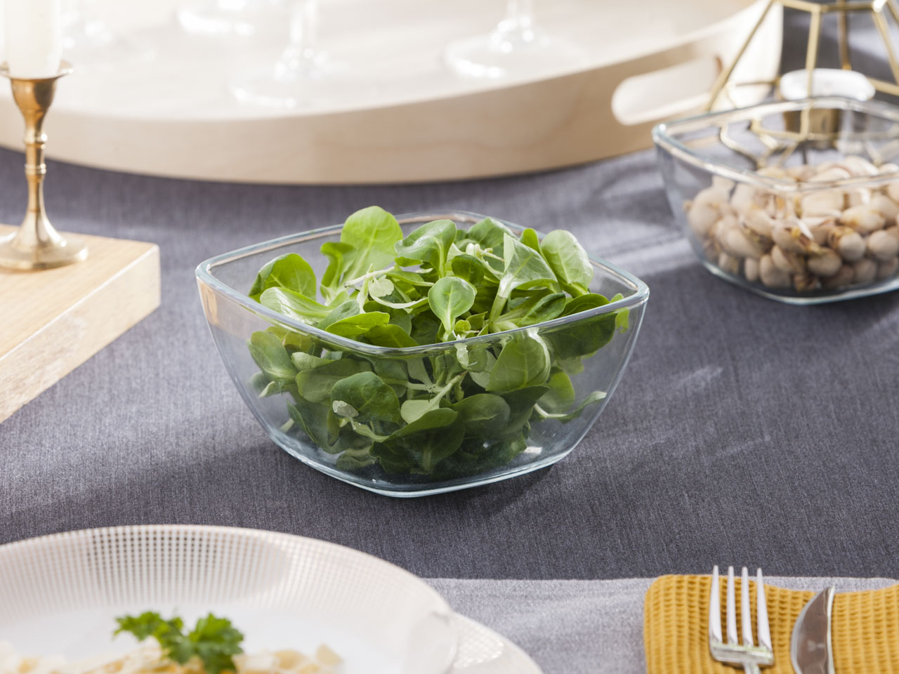 Miska / salaterka szklana kwadratowa Altom Design 0,95 l 7,5x15 cm