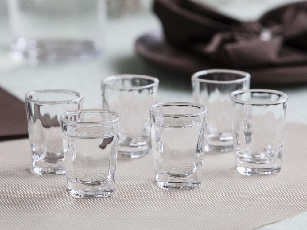 Kieliszki do wódki Hrastnik Stephanie Optic 50 ml, komplet 6 kieliszków