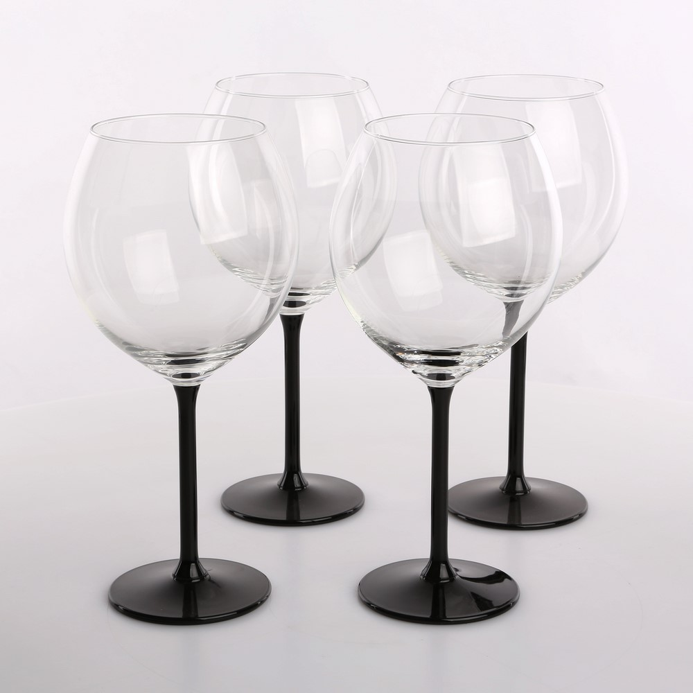 Xxl Black set of 4 glasses 700ml