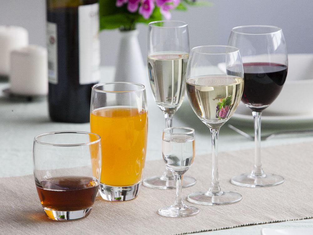 Kieliszki do wina, szampana, wódki + szklanki Diamond komplet 36 szt.