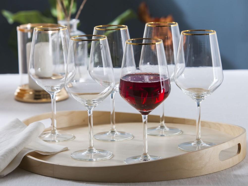 Kieliszek do wina czerwonego Altom Design Rubin Gold 530 ml (6 sztuk)