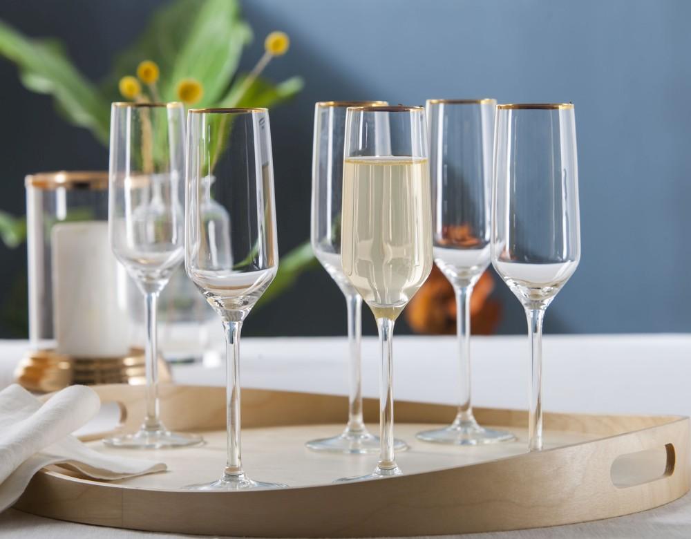 Kieliszek do szampana Altom Design Rubin Gold 220 ml (6 sztuk)
