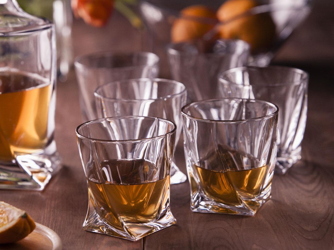 Szklanki do whisky Bohemia Quadro, komplet 6 szt.