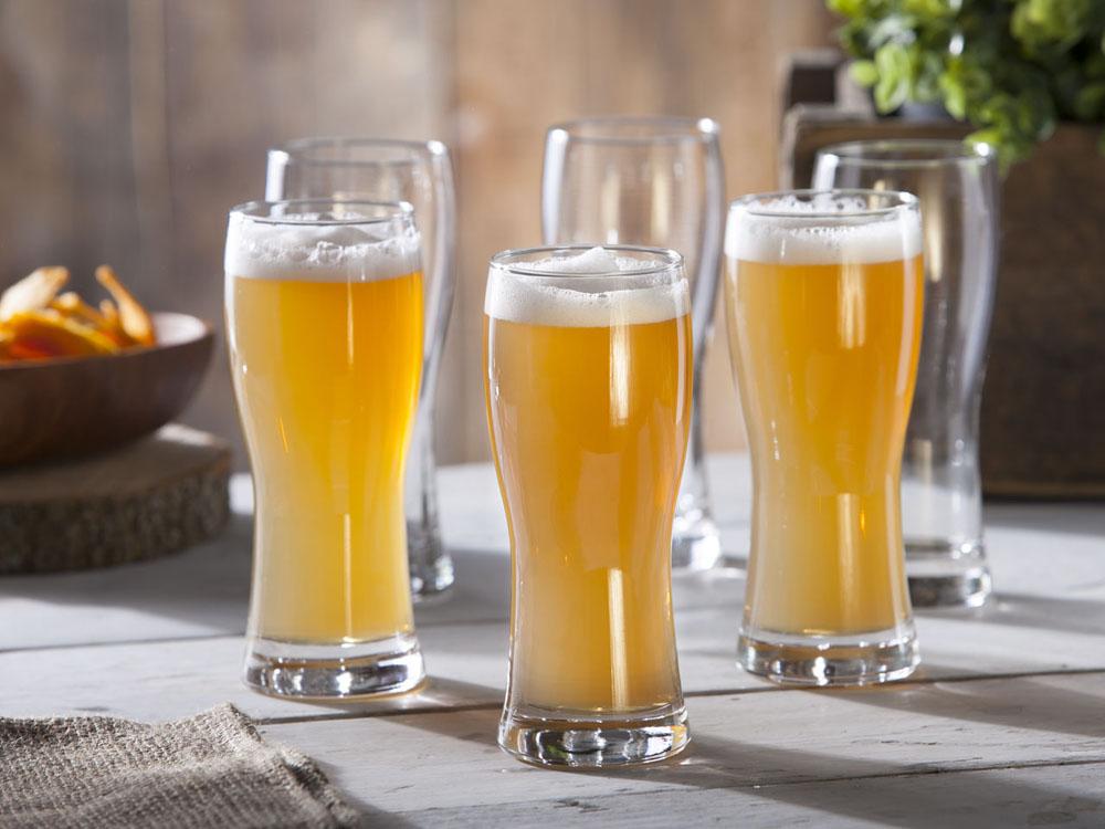 Szklanki pokale do piwa Praga 350 ml, komplet 6 szt.