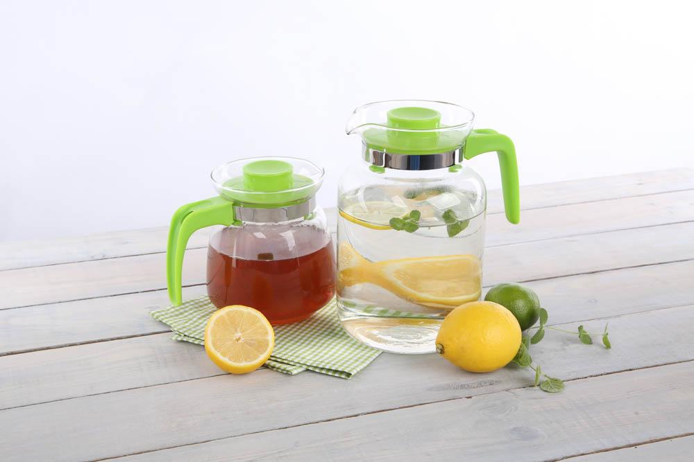 Dzbanek szklany z plastikową pokrywką Altom Design 2 l