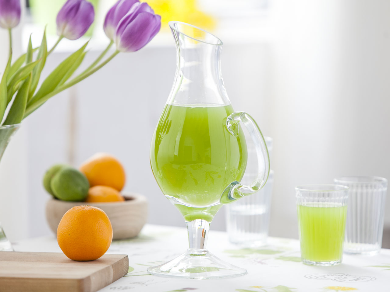 Dzbanek szklany do wody / soku Bocian 1000 ml