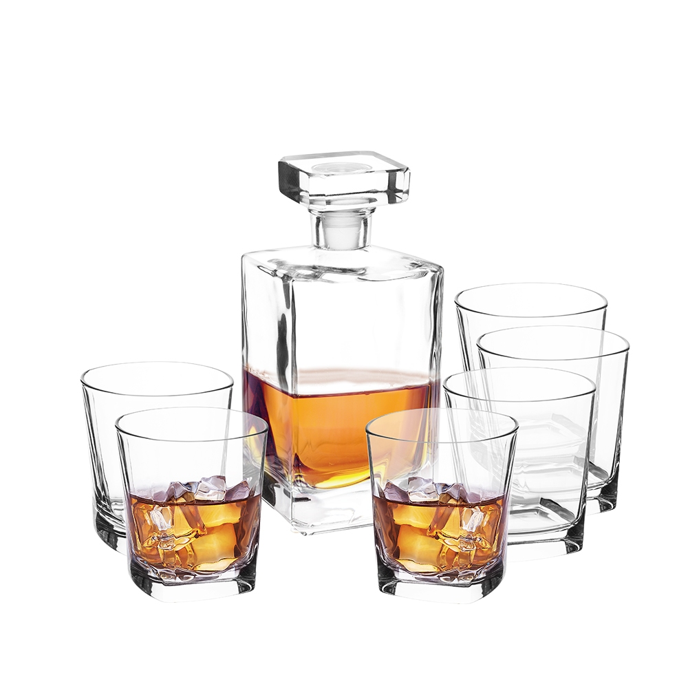 ASTON ZESTAW DO WHISKY KARAFKA 0,75L + 6 SZKLANEK 280ML