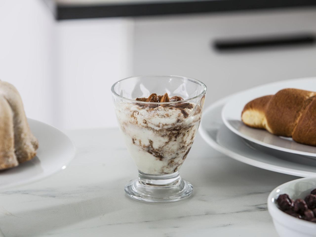 Pucharek do lodów i deserów szklany Altom Design Nile dek. Karo 250 ml