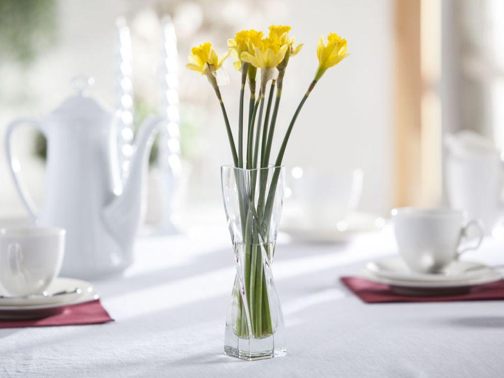 Wazon szklany na kwiaty skręcony Edwanex 20 cm