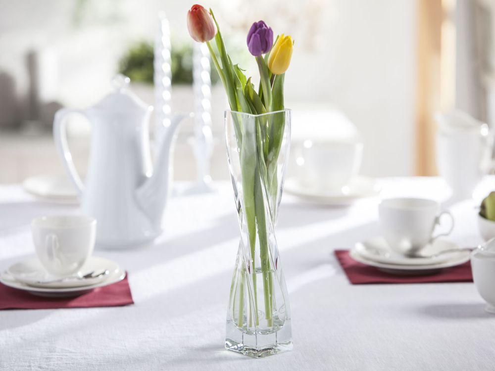 Wazon szklany na kwiaty skręcony Edwanex 30 cm