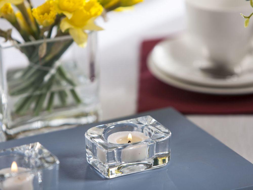 Świecznik szklany Edwanex 3 cm