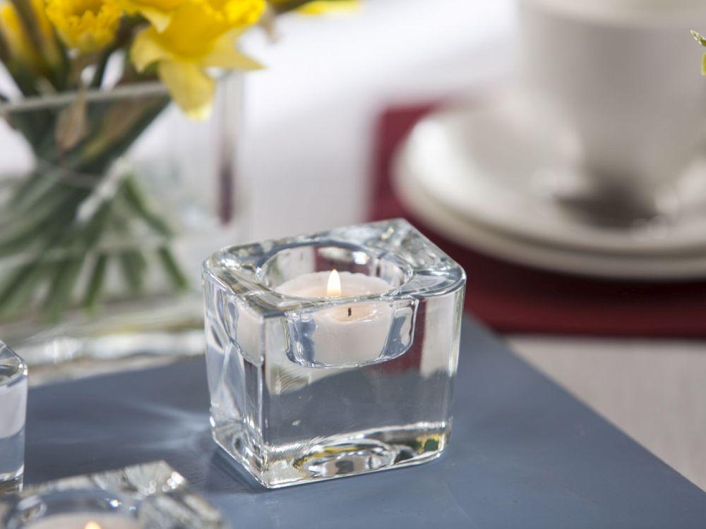 Świecznik szklany Edwanex 6 cm