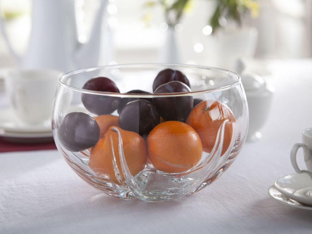 Miska / Bomboniera / salaterka szklana Edwanex Mandarynka 25 cm