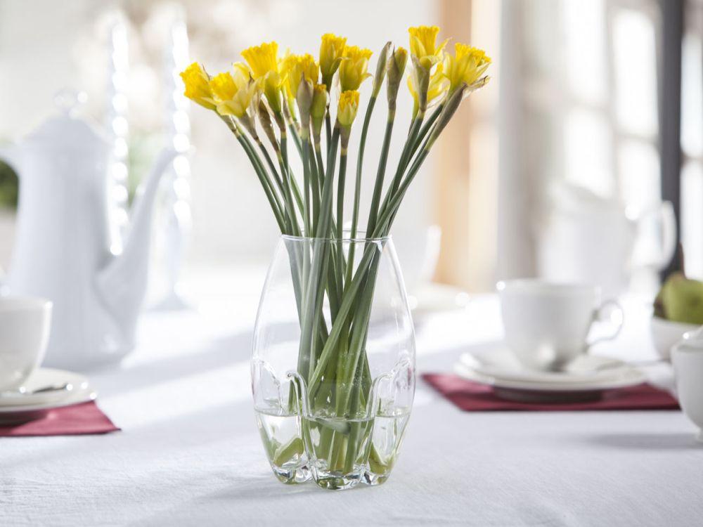 Wazon szklany na kwiaty Mandarynka 19 cm