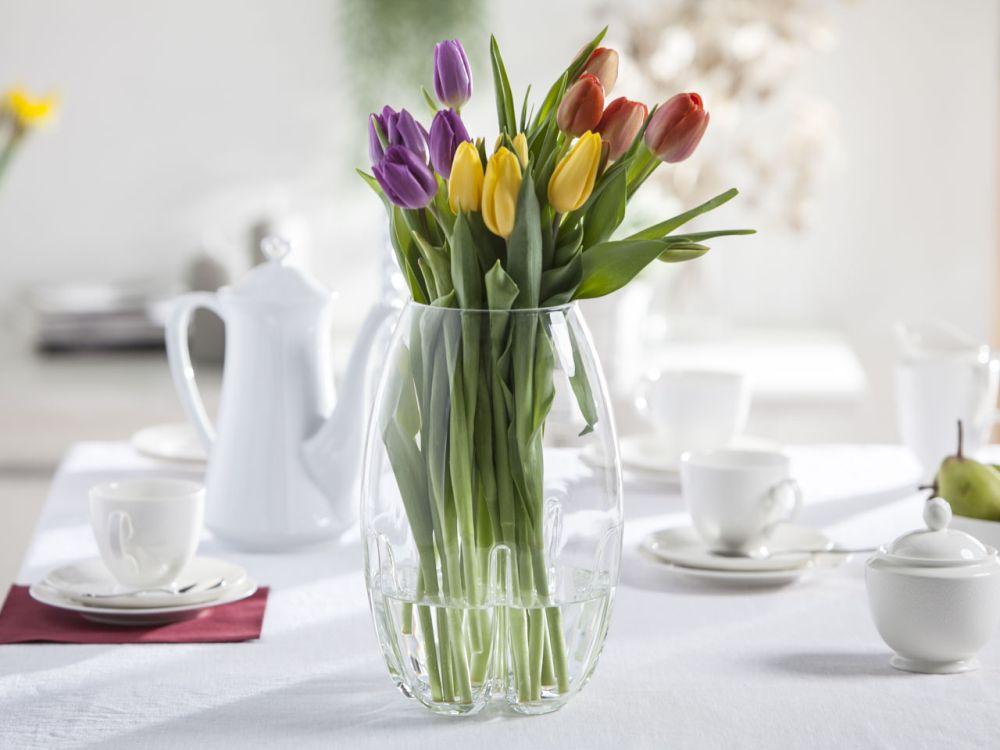 Wazon szklany na kwiaty Mandarynka 28 cm