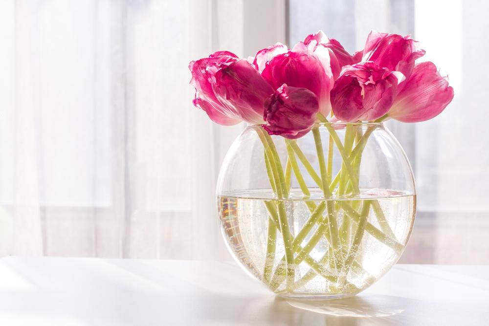 Wazon szklany na kwiaty Kula 24 cm