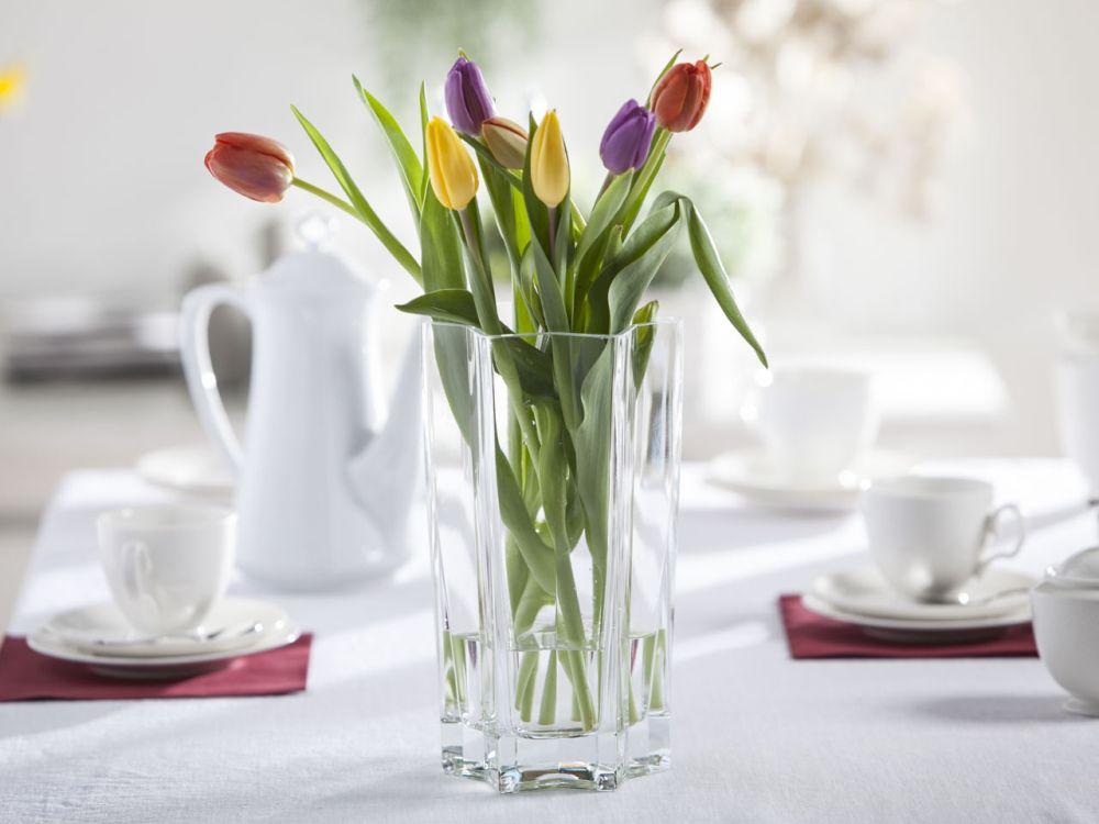 Wazon szklany na kwiaty Gwiazda