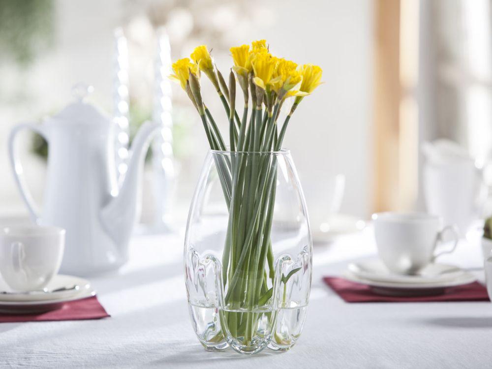 Wazon szklany na kwiaty Mandarynka 23 cm