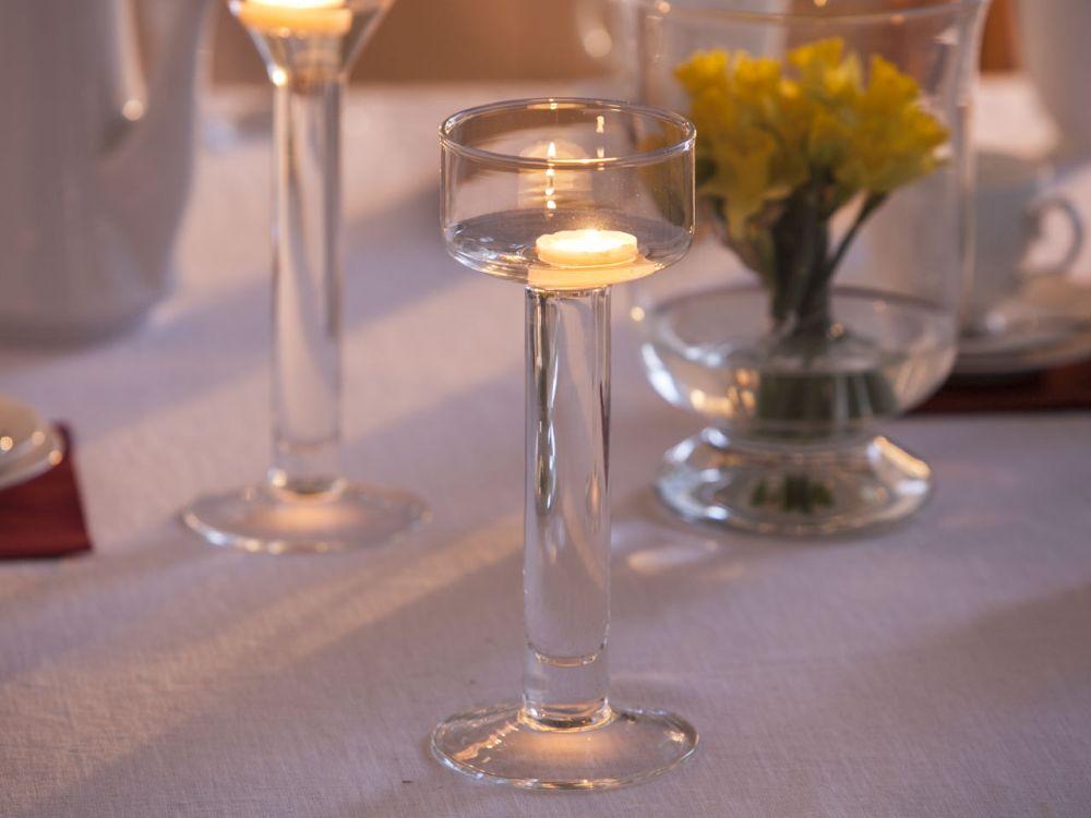 Świecznik szklany wodnik Edwanex 25,5 cm