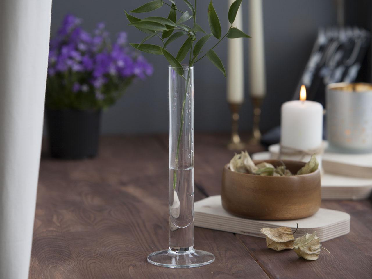 Świecznik ozdobny dekoracyjny szklany / wazon szklany Edwanex Tina 25 cm