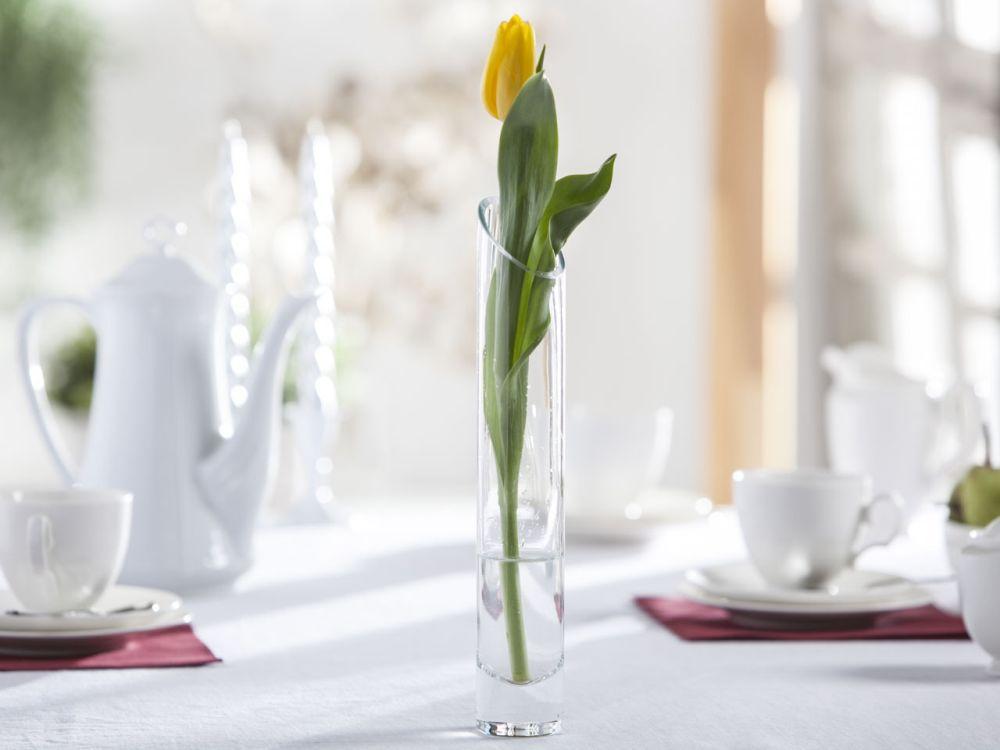 Wazon szklany na kwiaty Cylinder skos ścięty 30 cm