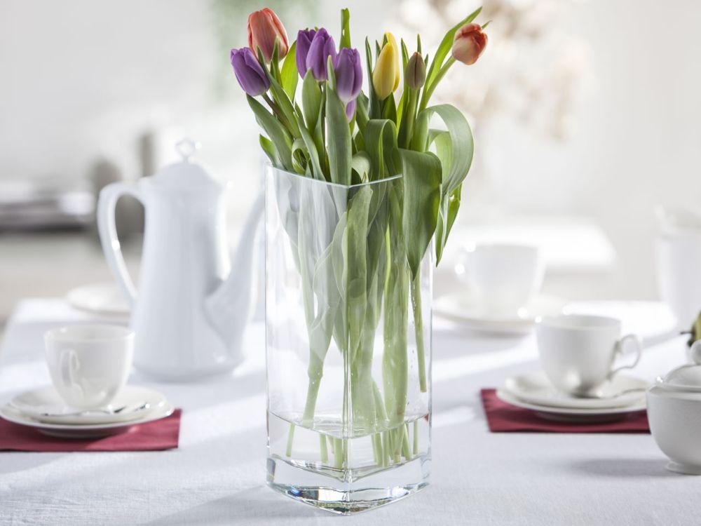 Wazon szklany na kwiaty Trójkąt 30 cm