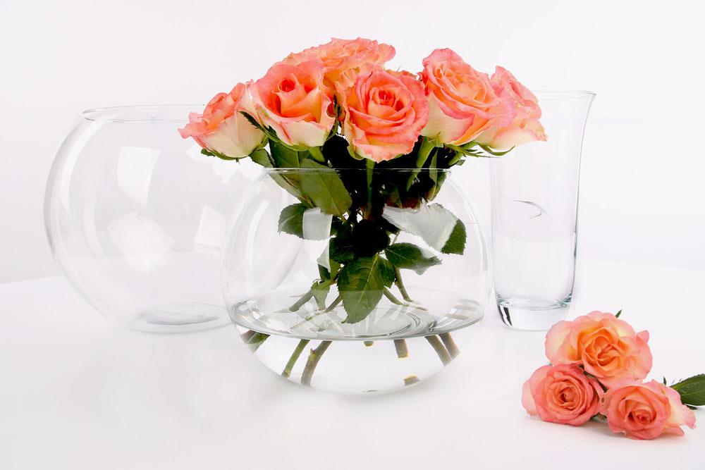 Świecznik szklany ozdobny dekoracyjny / wazon szklany Cegeco Kula 10 cm