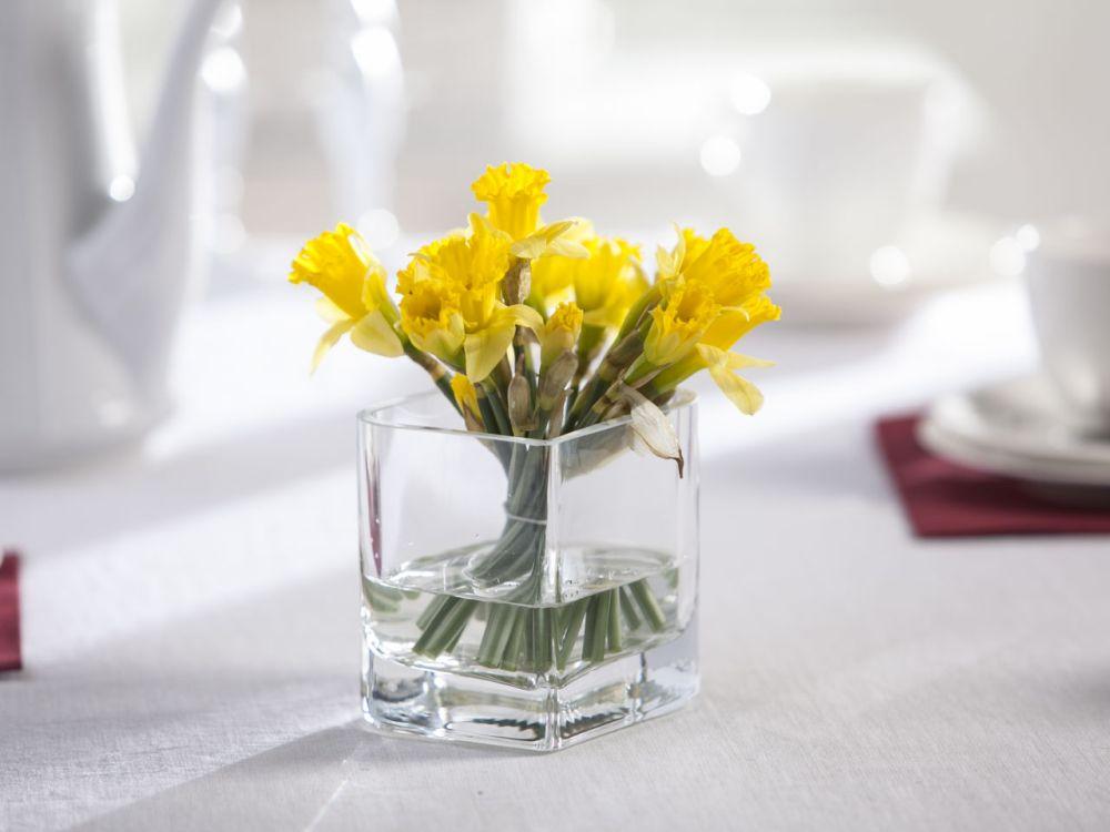 Wazon szklany na kwiaty Liść 10 cm