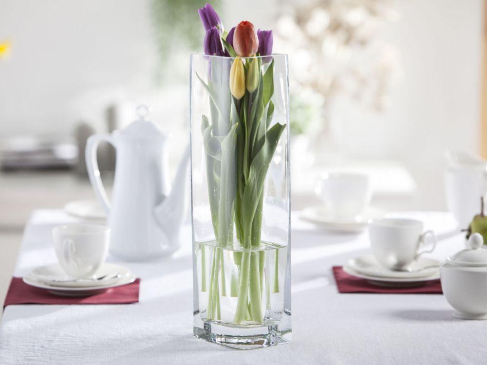 Wazon szklany na kwiaty Liść 40 cm