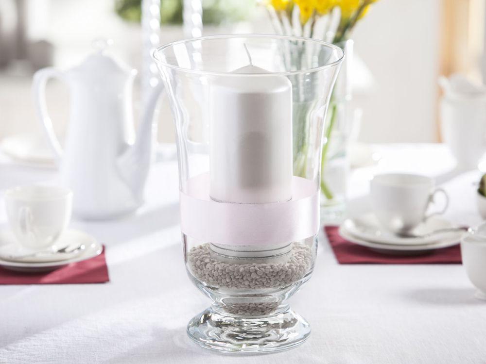 Świecznik ozdobny / wazon szklany Edwanex 35 cm