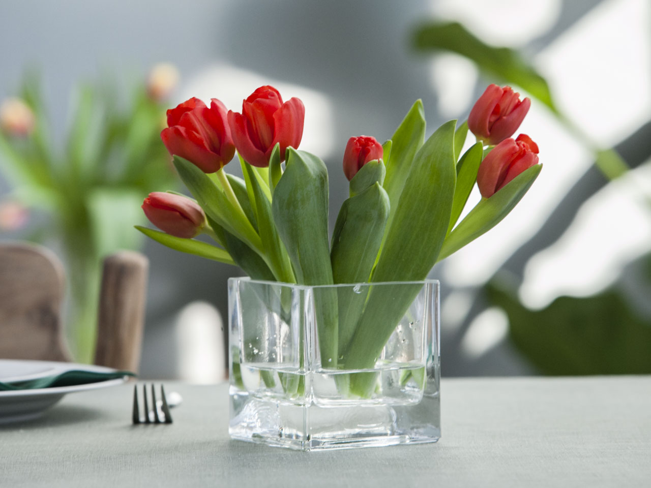 Wazon szklany na kwiaty Edwanex 10 cm