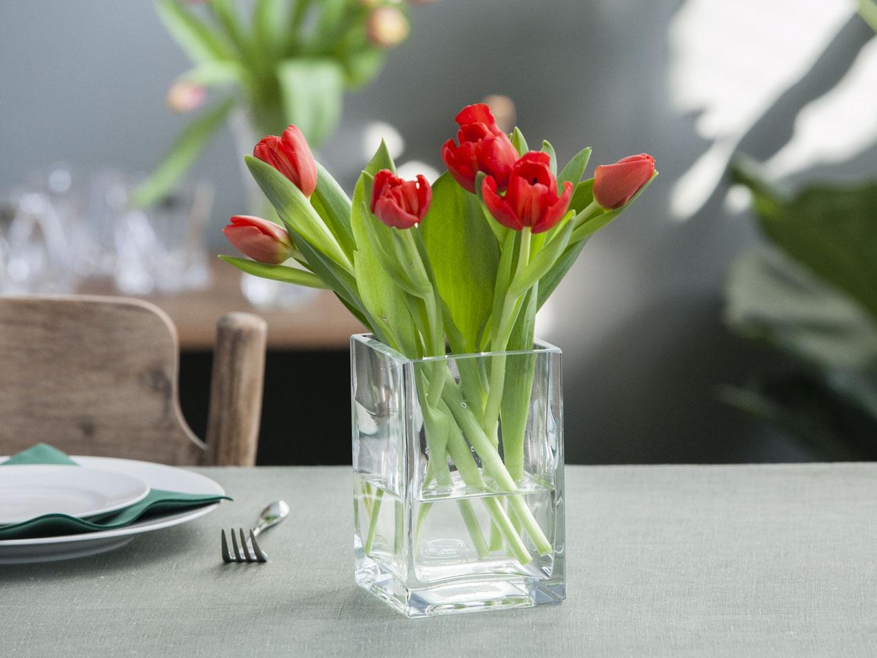 Wazon szklany na kwiaty Edwanex 15 cm