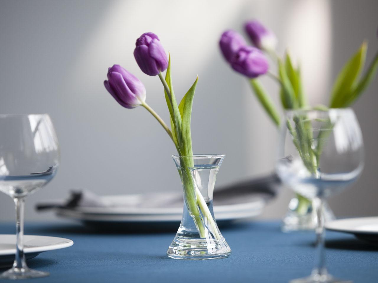 Wazon szklany na kwiaty X Edwanex 12 cm