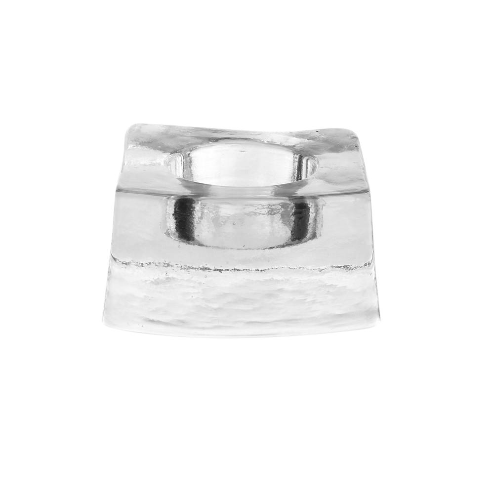 Świecznik szklany pojedyńczy tea-light Edwanex 4x8 cm