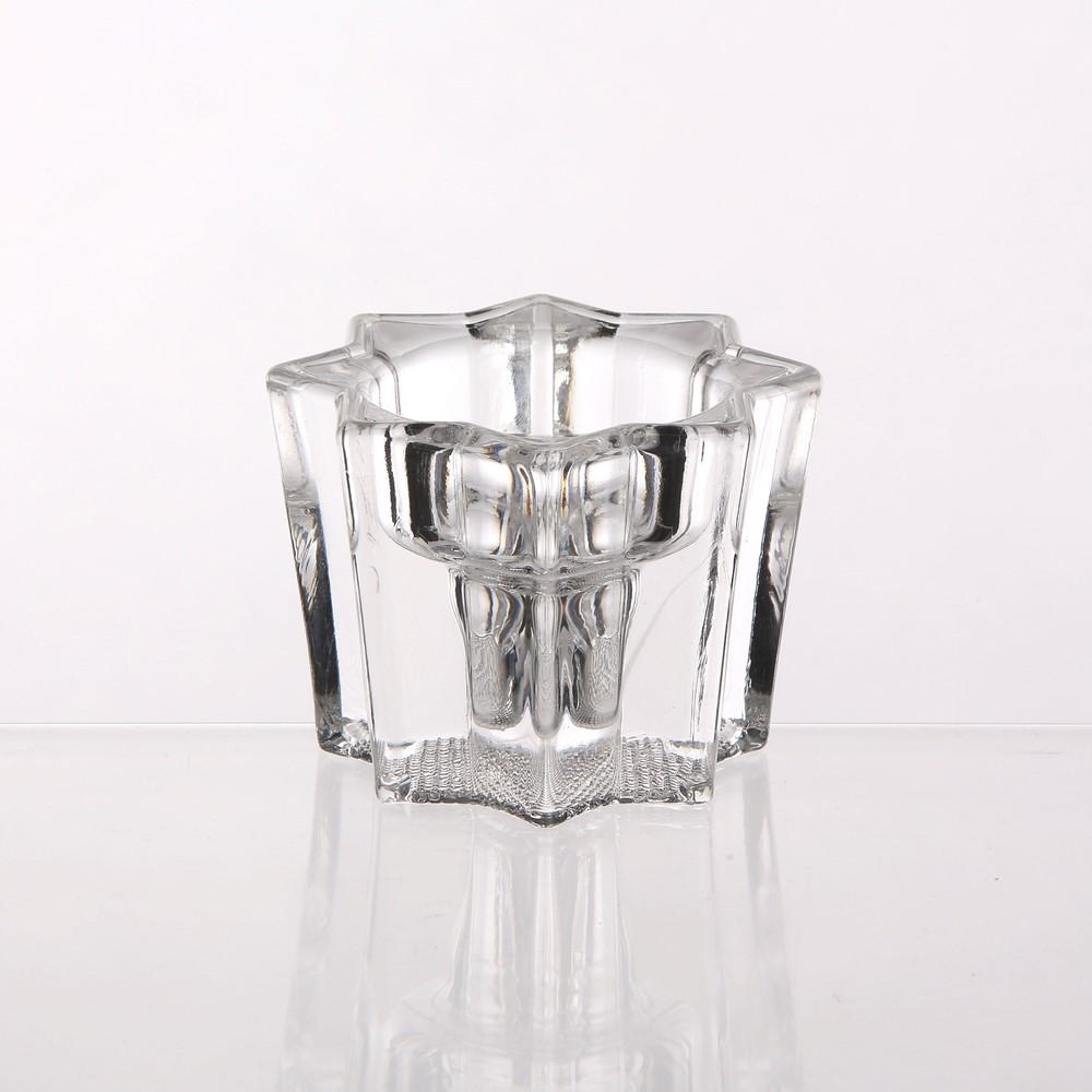 Świecznik szklany wysoki gwiazdka Edwanex 5x6,8 cm