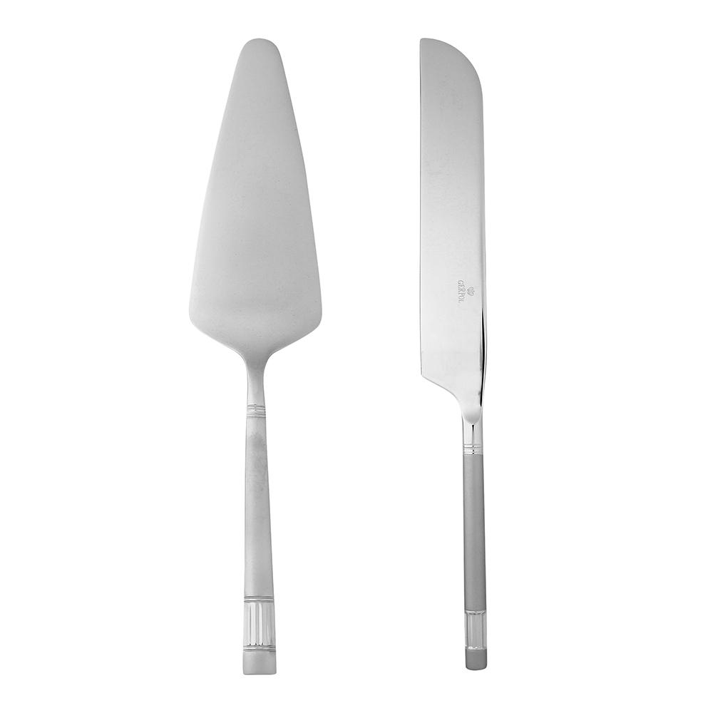 Łopatka i nóż do ciasta Gerpol Diamond Satyna (2 elementy)