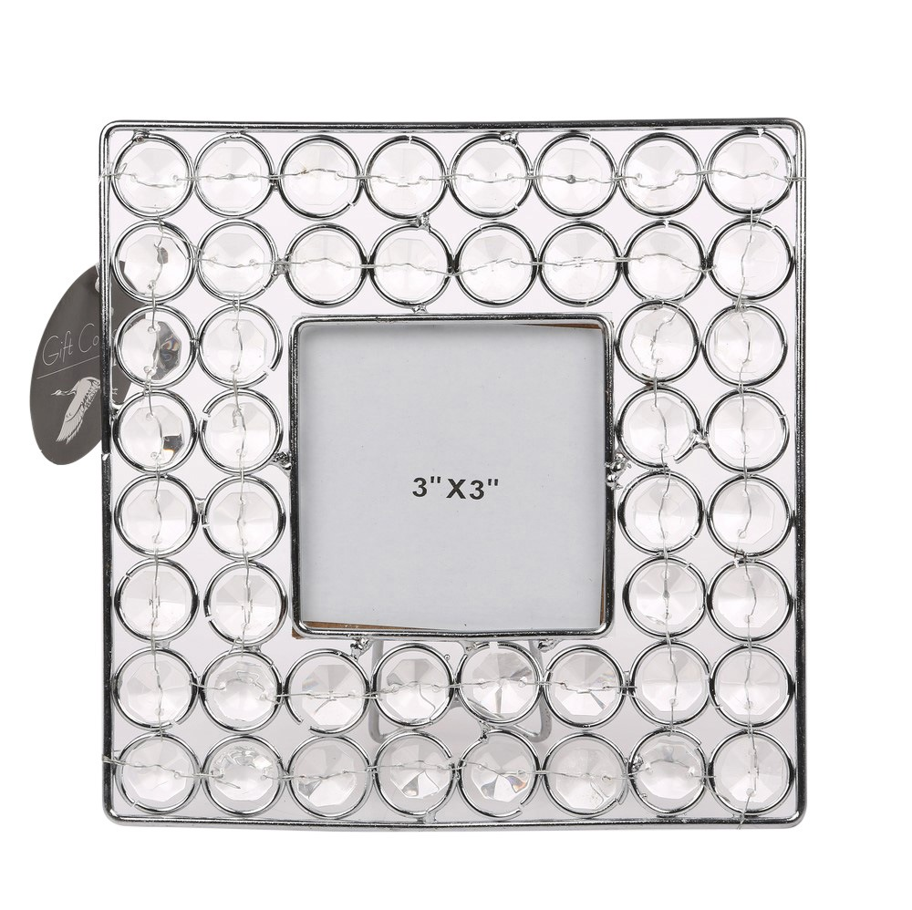 Photo frame with crystals 16,5cm square