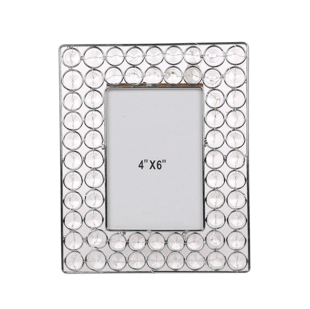 Ramka na zdjęcie z kryształkami prostokątna Altom Design 23,5 cm