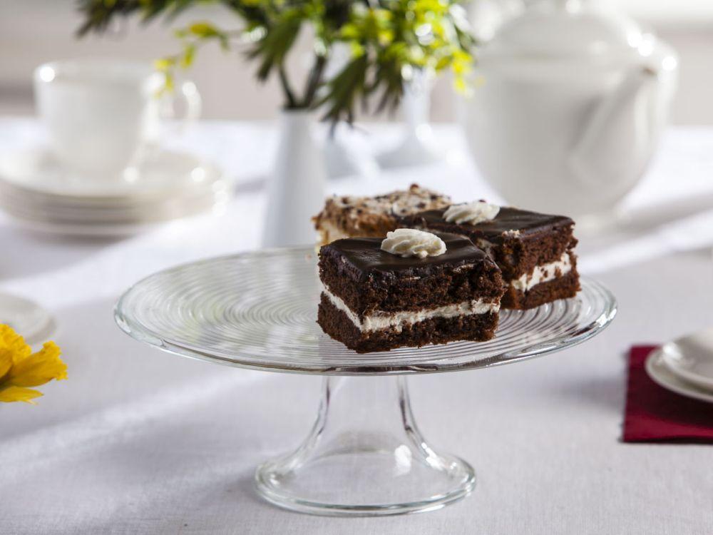 Patera szklana / talerz na ciasto Edwanex Spirala 27,5 cm