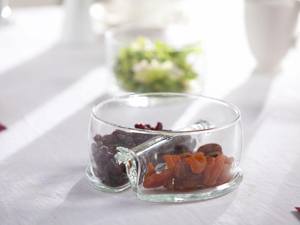 Miska / Salaterka dzielona szklana Edwanex 17 cm