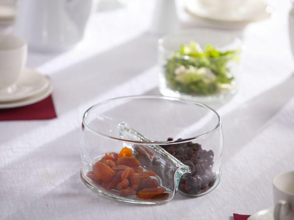 Miska / Salaterka dzielona szklana Edwanex 20 cm